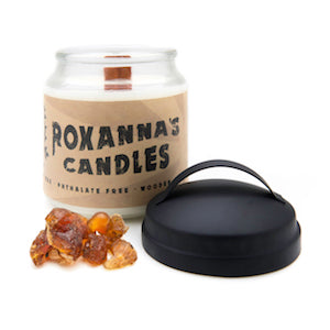 Frankincense & Myrrh Wooden Wick Soy Candle 16oz Glass Jar