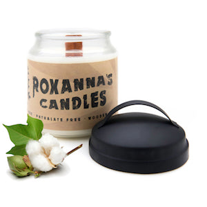 Fresh Cotton Wooden Wick Soy Candle 16oz Glass Jar