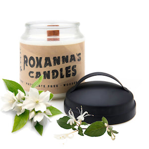 Honeysuckle Jasmine Wooden Wick Soy Candle 16oz Glass Jar