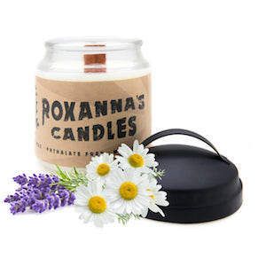 Lavender Chamomile Wooden Wick Soy Candle 16oz Glass Jar