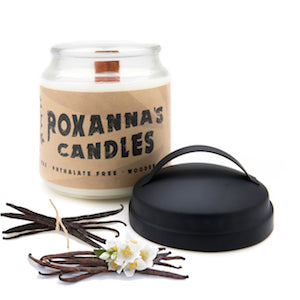 Vanilla Bean Wooden Wick Soy Candle 16oz Glass Jar