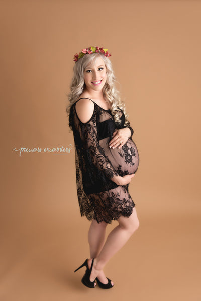 """ADELE"" MATERNITY DRESS IN BLACK"