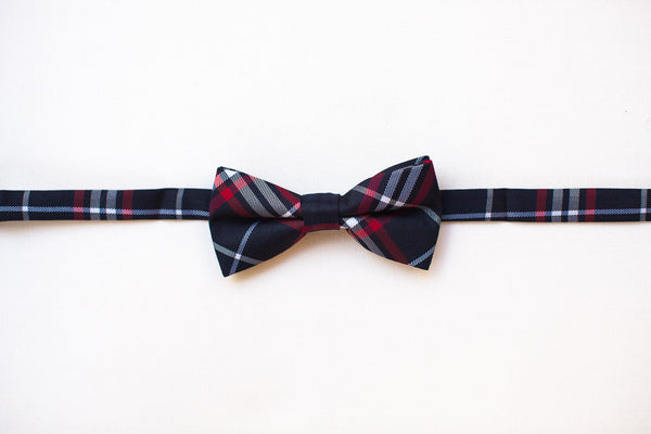 Red, Black & White Bow Tie