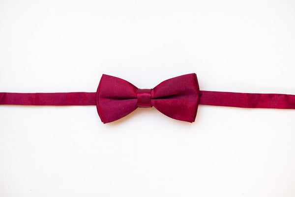 Deep Red Bow Tie