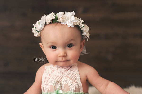 ALL WHITE FLOWER BUD HEADPIECE