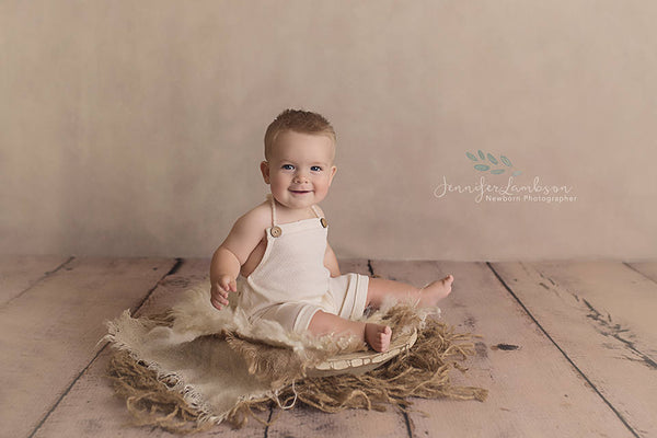 BABY ROMPER / SITTER: baby knit romper, ivory knit sitter, 6 month sitter, 12 month sitter, ivory knit, romper, photography prop, cake smash