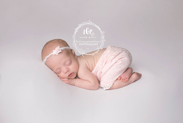 NEWBORN BABY ROMPER: baby stretch romper, baby photo prop, lt pink, lt. blue, lace trim, handmade photo prop, baby photography, baby gift