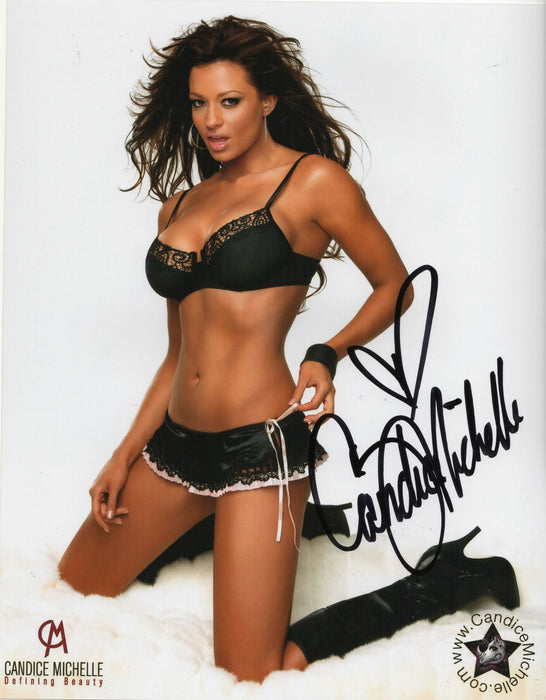 Candice Michelle Autograph 8x10 Photo WWE WWF Signed Picture COA