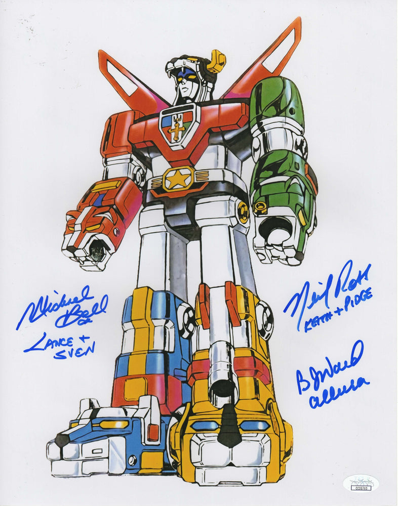 B.J. Ward, Michael Bell and Neil Ross Autograph 11x14 Photo Voltron Signed JSA COA 2