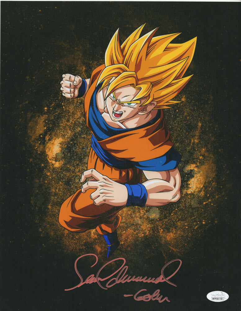 Sean Schemmel Autograph 11x14 Photo Dragon Ball Z Goku Signed JSA COA 3