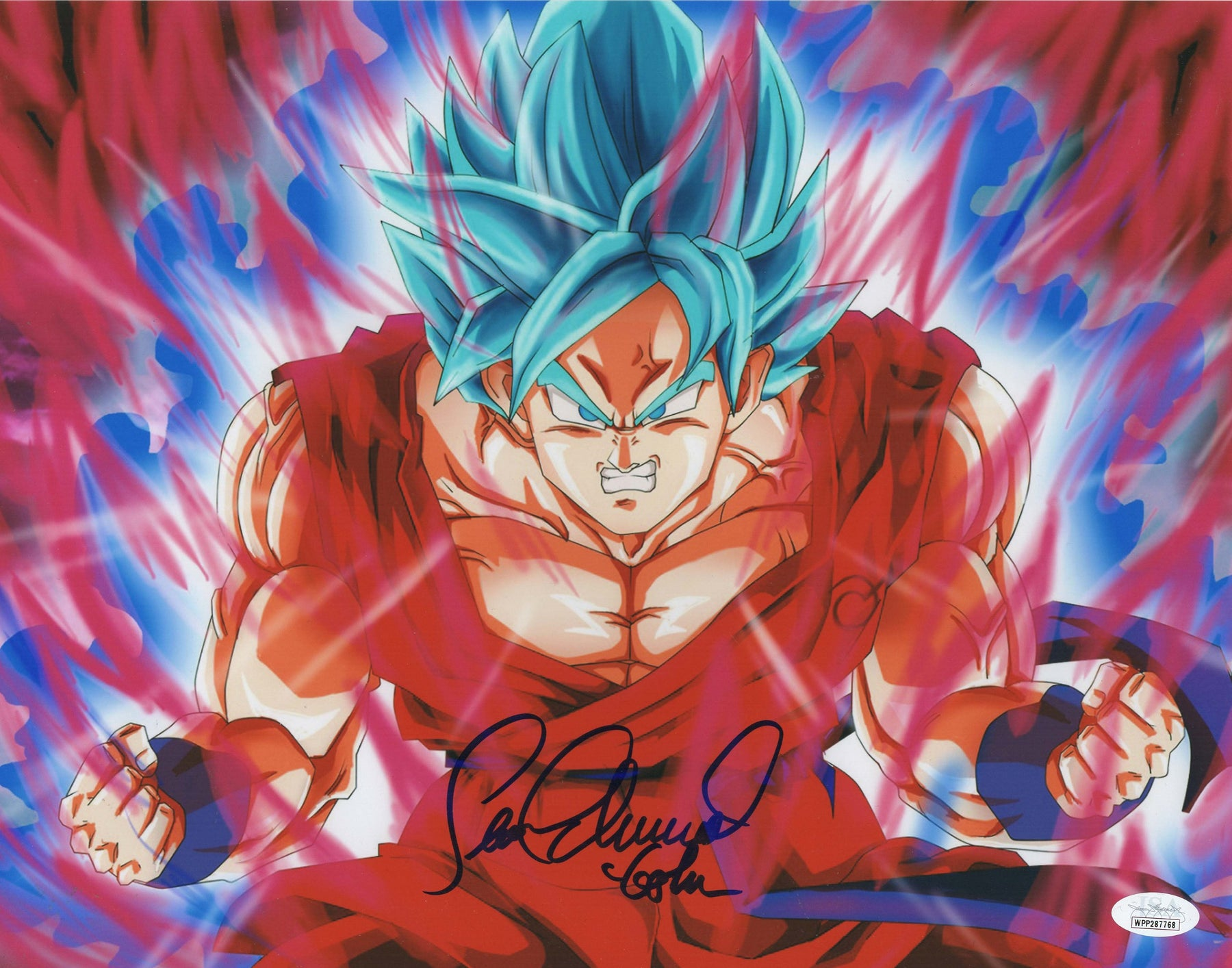 Sean Schemmel Autograph 11x14 Photo Dragon Ball Z Goku Signed JSA COA 4