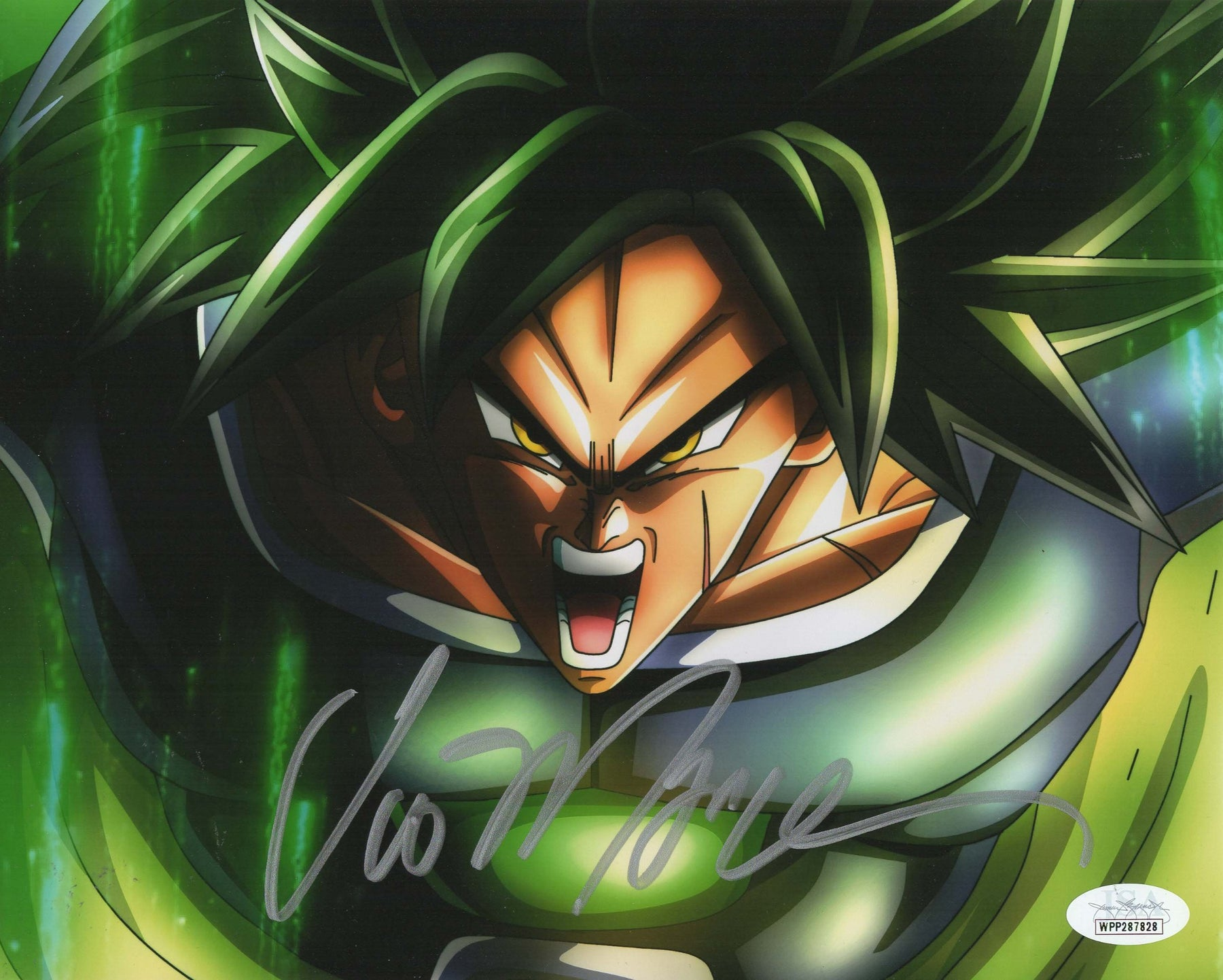 Vic Mignogna Autograph 8x10 Photo Dragon Ball Z Broly Signed JSA COA