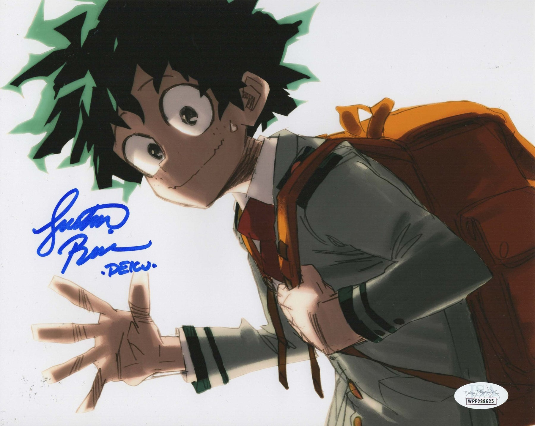 Justin Briner Autograph 8x10 Photo My Hero Academia DEKU Signed JSA COA