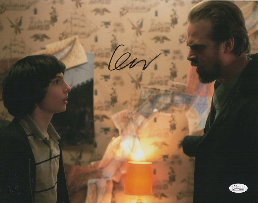 Finn Wolfhard Autograph 11x14 Photo JSA Stranger Things Mike Wheeler