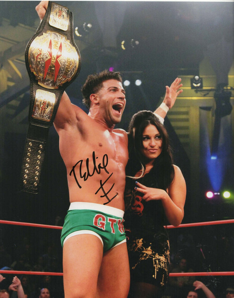 Robbie E Autograph 8x10 Photo TNA Wrestling Signed COA 2