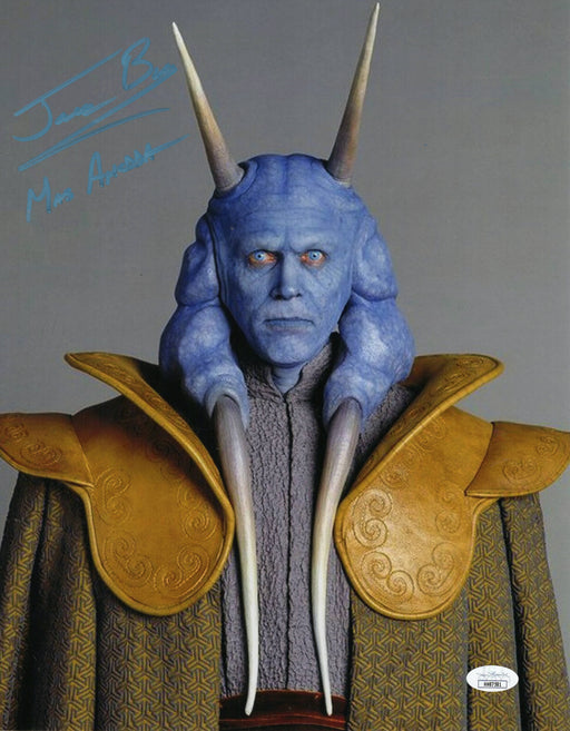 Jerome Blake Autograph 11x14 Photo Star Wars Mas Amedda Signed JSA COA