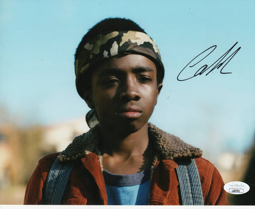 Caleb McLaughlin Autograph 8x10 Photo Lucas Stranger Things Signed JSA COA