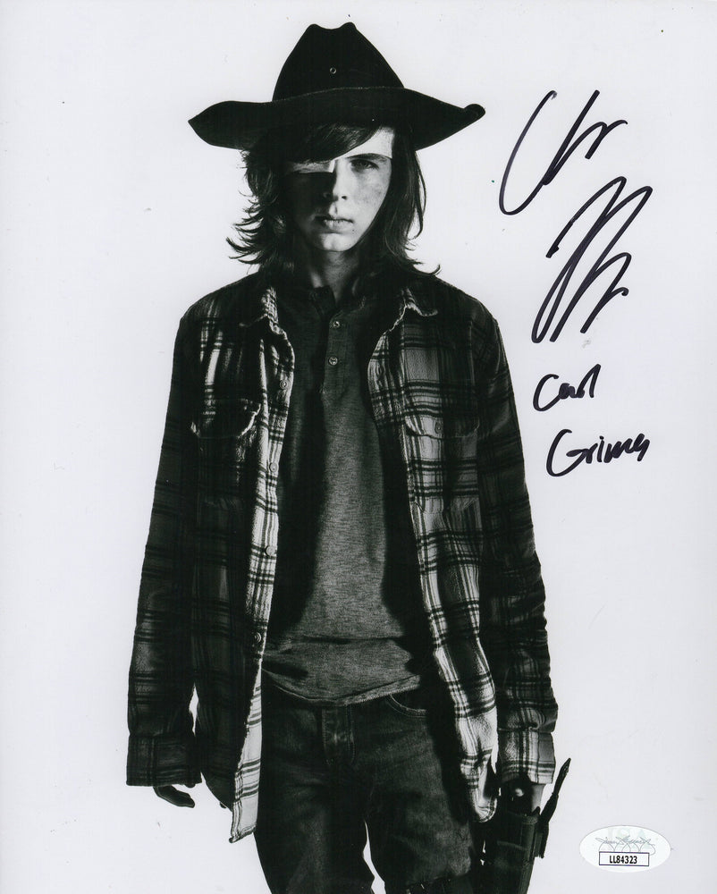 Chandler Riggs Autograph 8x10 Photo The Walking Dead Carl Signed JSA COA 2
