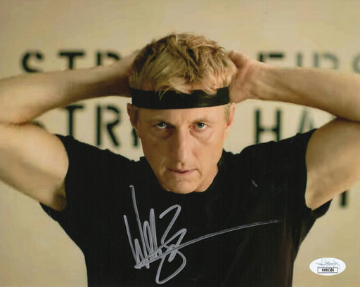 William Zabka Autograph 8x10 Cobra Kai Photo The Karate Kid Johnny JSA COA 3