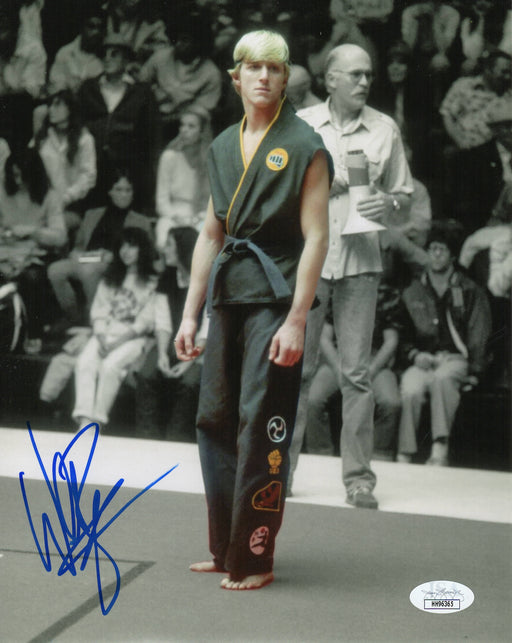 William Zabka Autograph 8x10 Cobra Kai Photo The Karate Kid Johnny JSA COA 4