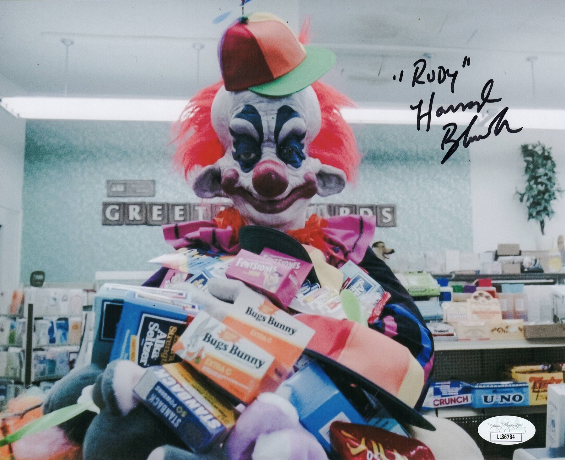 Harrod Blank Autograph 8x10 Photo Killer Klowns from Outer Space Rudy JSA COA