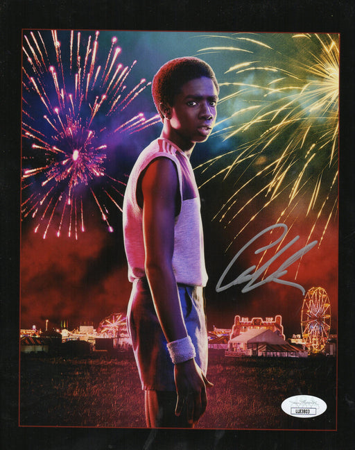 Caleb McLaughlin Autograph 8x10 Photo Lucas Stranger Things Signed JSA COA 3