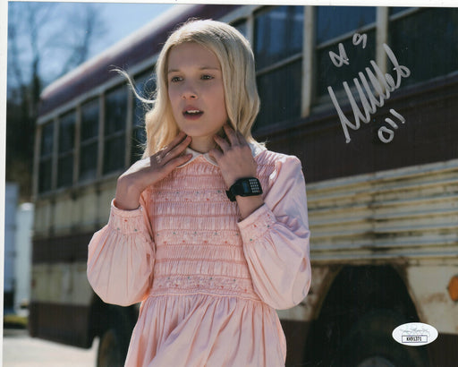 Millie Bobby Brown Autograph 8x10 Photo Stranger Things Eleven Signed JSA COA