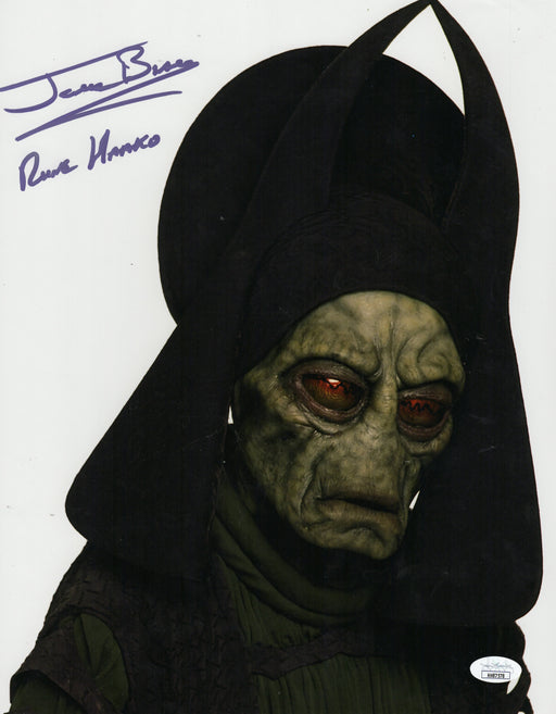 Jerome Blake Autograph 11x14 Photo Star Wars Rune Haako Signed JSA COA