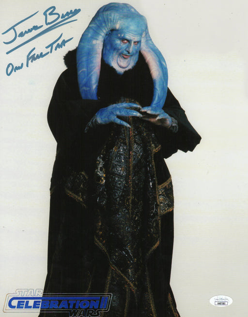 Jerome Blake Autograph 11x14 Photo Star Wars Orn Free Taa Signed JSA COA