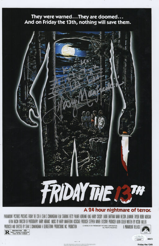 Harry Manfredini Autograph 11x17 Photo Friday the 13th Signed JSA COA
