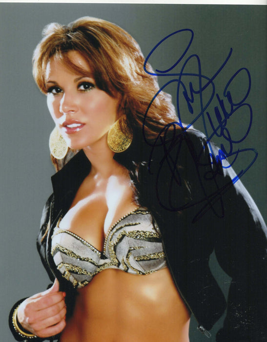 Mickie James Autograph Photo WWE 8X10 Picture Signed COA Z2