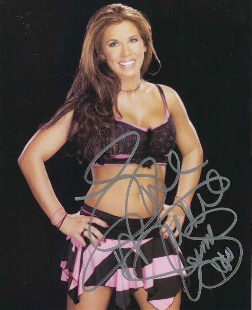 Mickie James Autograph Photo WWE 8X10 Picture Signed COA Z5