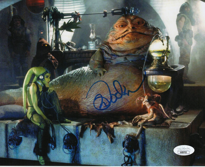 Mark Dodson Autograph 8x10 Photo Star Wars Salacious Crumb JSA COA 2