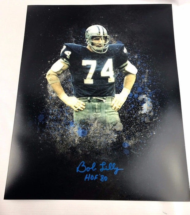 Bob Lilly Signed 16x20 TCU Horned Frogs Autograph Dallas Cowboys COA 3