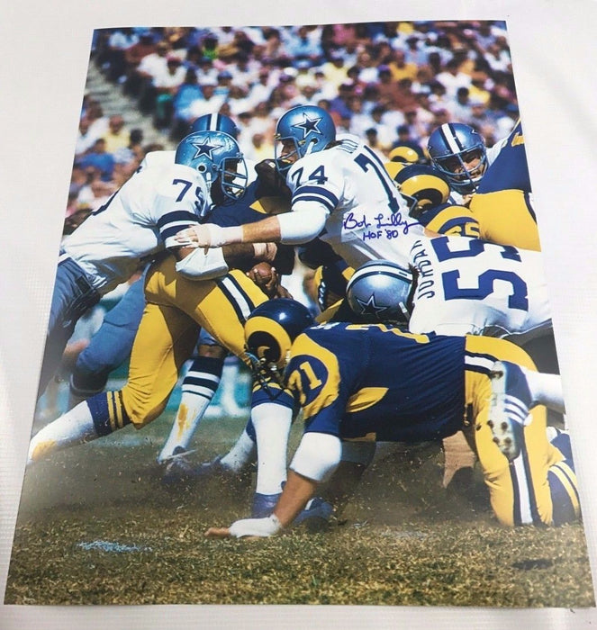 Bob Lilly Signed 16x20 TCU Horned Frogs Autograph Dallas Cowboys COA