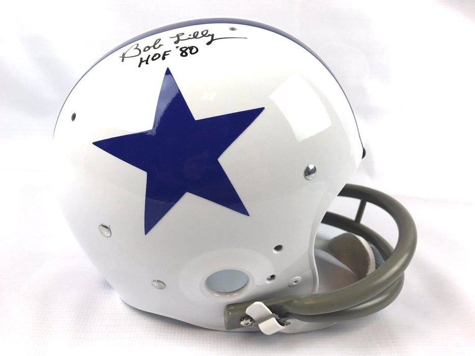 Bob Lilly Autograph Replica TK Full Size Helmet Dallas Cowboys JSA COA Z1