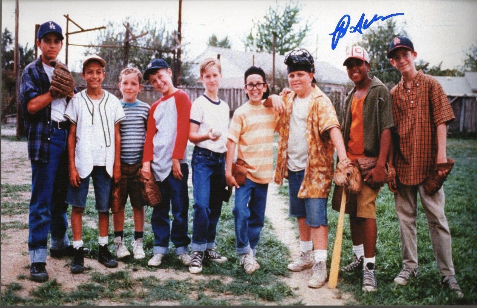 Brandon Adams The Sandlot Autograph 11X17 Photo The Mighty Ducks COA Zobie Z7