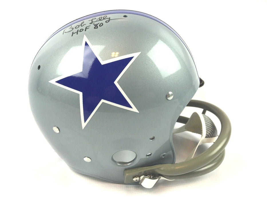 Bob Lilly Autograph Replica TK Full Size Helmet Dallas Cowboys JSA COA Z2