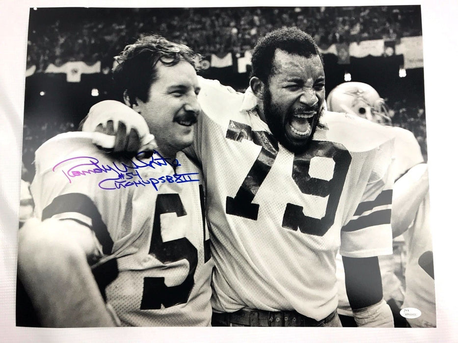 Randy White Signed 16x20 Photo Maryland Terrapins Autograph JSA Dallas Cowboys 0