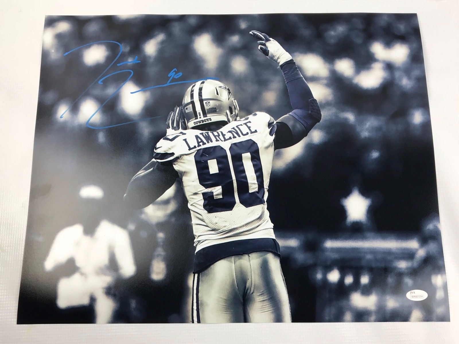 Demarcus Lawrence Signed 16x20  Picture Autograph Dallas Cowboys Photo JSA COA 6