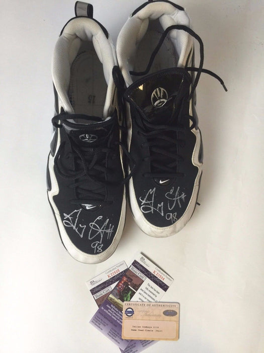 Greg Ellis Autograph Dallas Cowboys Signed JSA COA Steiner Game Used Cleats WORN