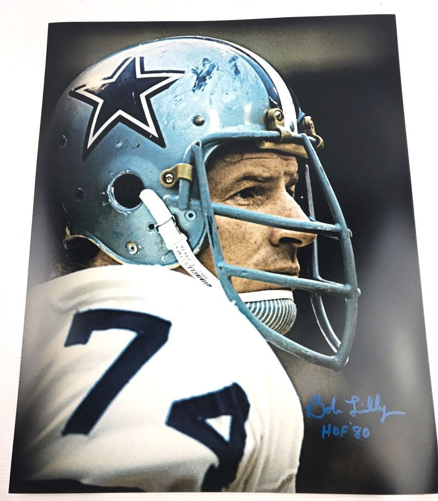 Bob Lilly Signed 16x20 TCU Horned Frogs Autograph Dallas Cowboys COA 4