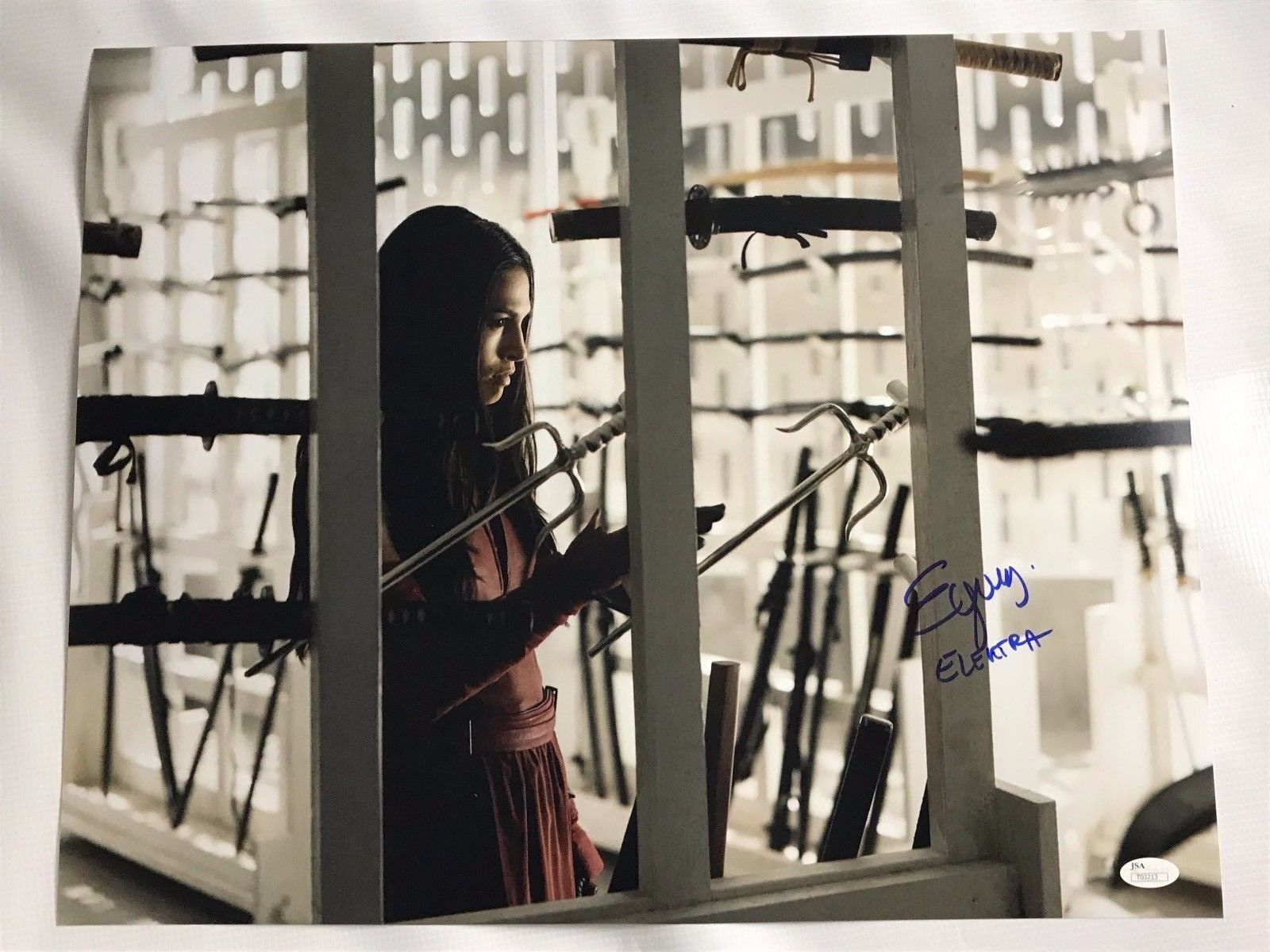 Elodie Yung Authentic Signed 16x20 Photo Daredevil Elektra Autographed JSA COA 5
