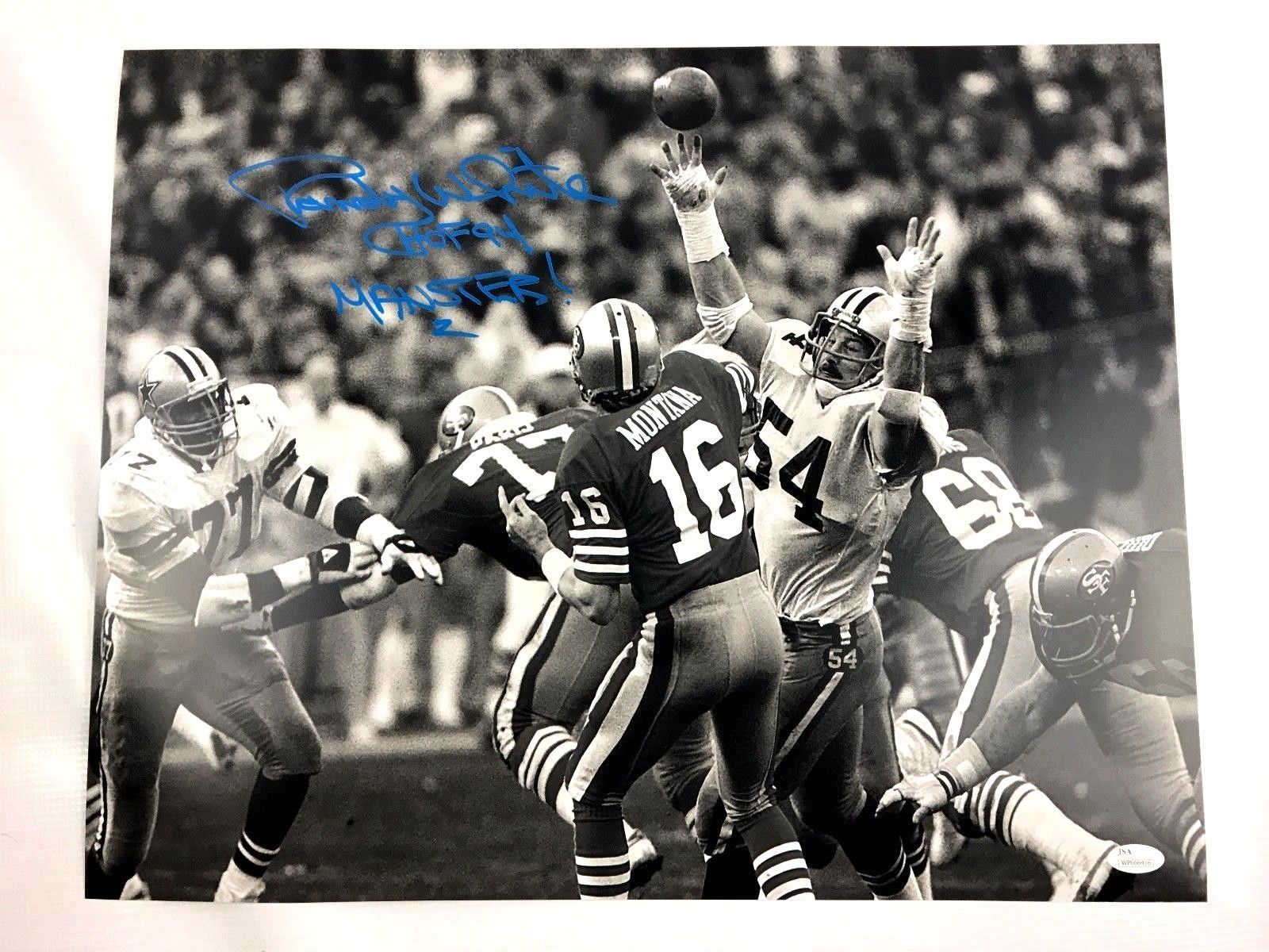 Randy White Signed 16x20 Photo Maryland Terrapins Autograph JSA Dallas Cowboys 4