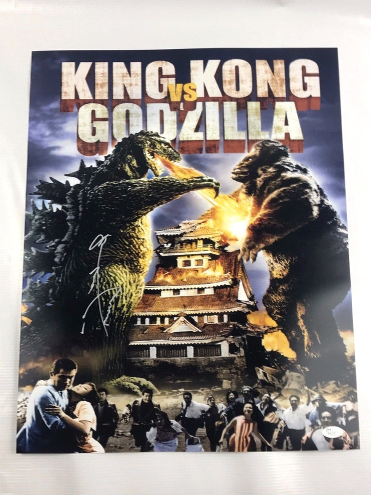 Haruo Nakajima Authentic Autograph Godzilla 16x20 Photo Signed Gojira JSA COA 3