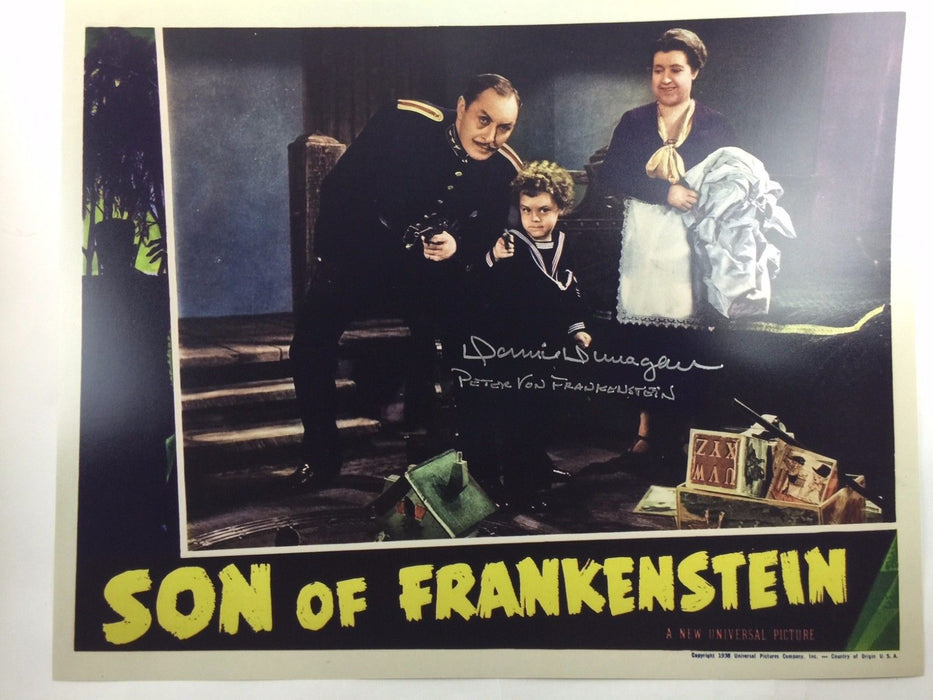 Donnie Dunagan Autograph Son of Frankenstein 16x20 Picture COA Signed Photo J1