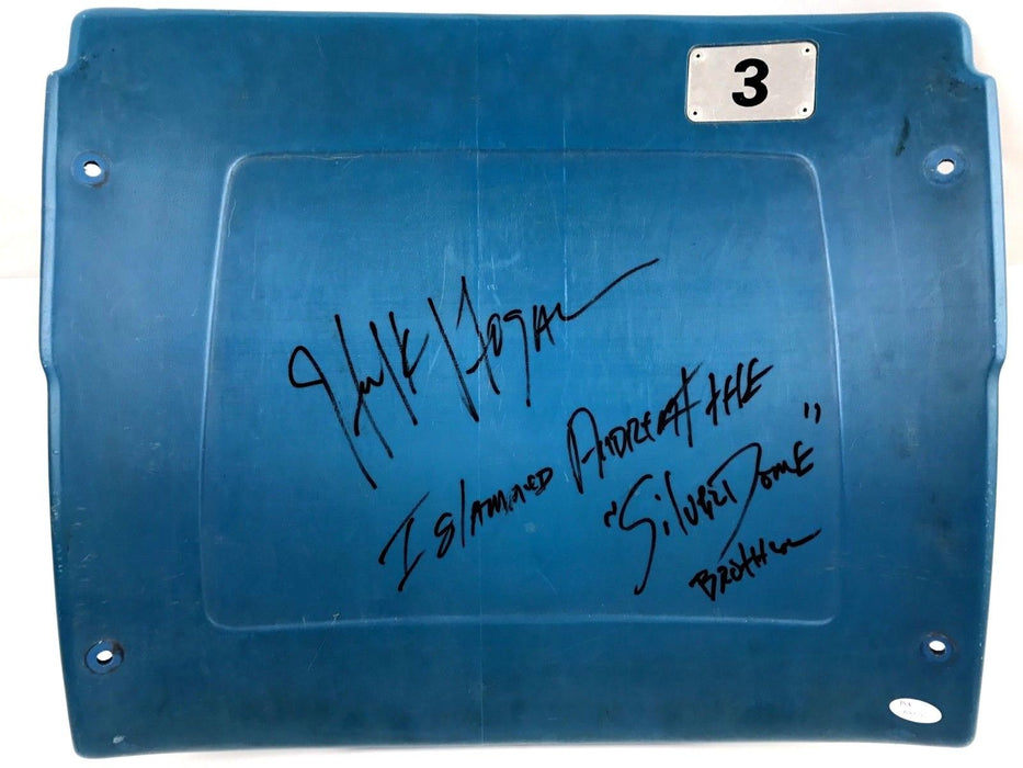 Hulk Hogan Signed Authentic Autograph Silverdome Seatback RARE Inscription JSA