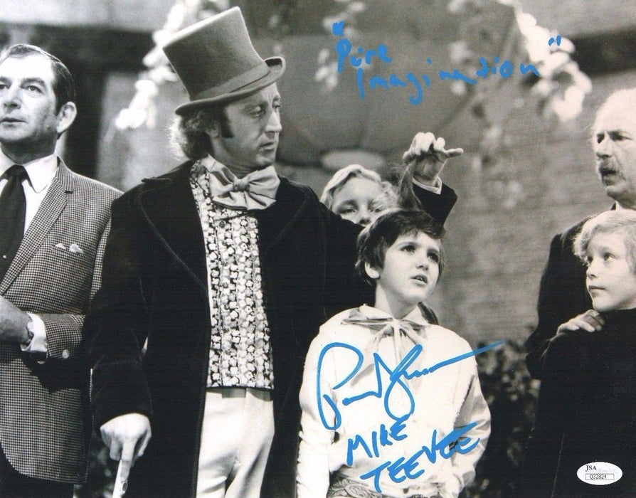 Willy Wonka Authentic Paris Themmen Autograph Mike Teevee 11x14 Photo JSA COA