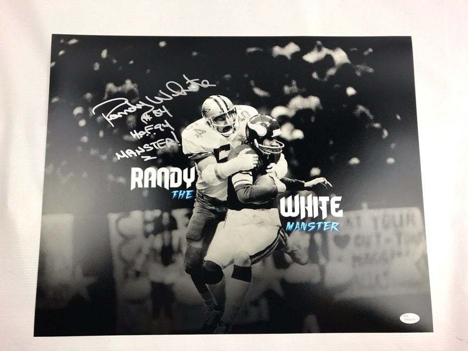 Randy White Signed 16x20 Photo Maryland Terrapins Autograph JSA Dallas Cowboys 1