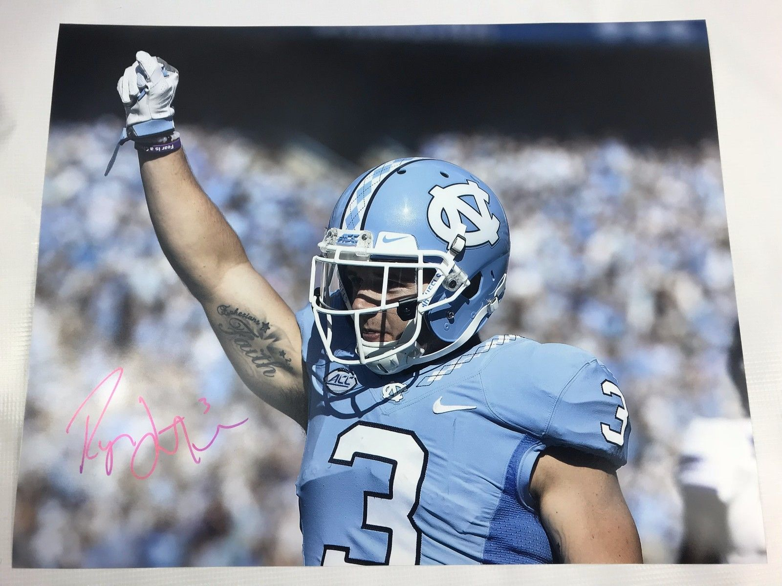 Ryan Switzer Signed 16x20 Custom Photo Dallas Cowboys COA Tar Heels Autograph 5